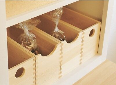 Wooden European Oak Storage Box Clear Lacquered Finish