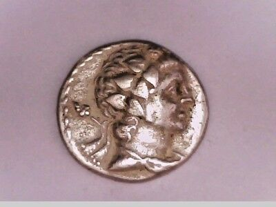 EGYPT ALEXANDRIA THE PTOLEMIES PTOLEMY V or VI EAGLE SILVER DIDRACHM ZEUS COIN