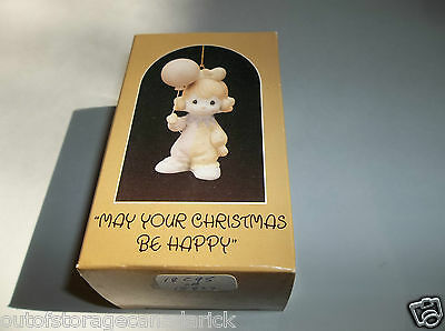 1985 Precious Moments Ornament May Your Christmas Be Happy 15822 MIB