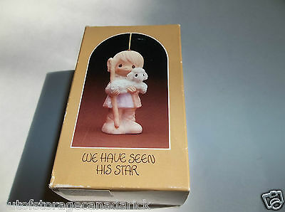 1980 Precious Moments Ornament We Have Seen His Star E-6120 MIB