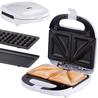 b ware 3 in 1 sandwichmaker sandwichtoaster waffeleisen elektro tisch 5308759 eur 25 46. Black Bedroom Furniture Sets. Home Design Ideas
