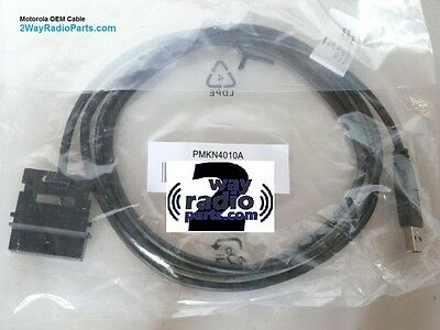 REAL OEM Motorola MotoTRBO XPR8300 XPR8400 PMKN4010 A B USB Programming Cable