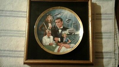 Franklin Mint James Bond Thudnerball Numbered Plate sealed in wooden frame