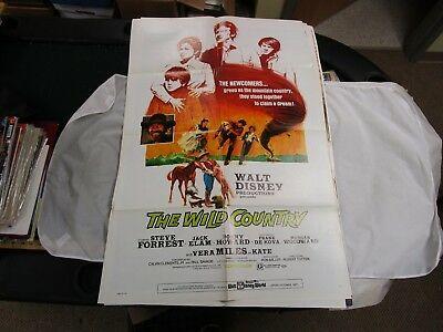 Vintage 1 Sheet Movie Poster The Wild Country 1970 Steve Forrest Vera Miles