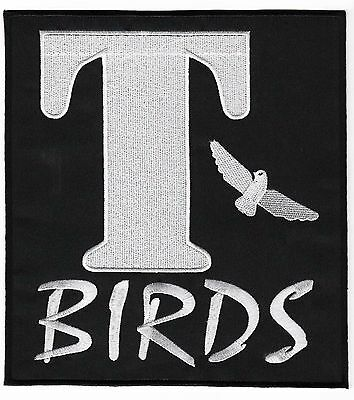 T-BIRDS Patch 20cm Embroidered Badge Applique Grease Costume Jacket T BIRDS NEW!