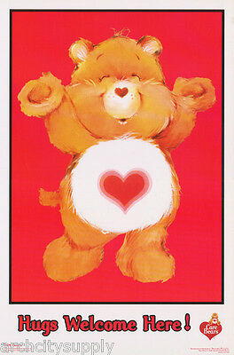 Lot Of 2 Posters :children's:care Bears -Hugs Welcome -Flocked  #fl3343F  Lp46 E