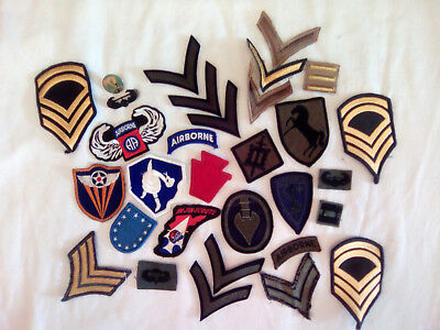 US ARMY PATCHES Variety Lot + John Lennon Army - REINHARDT