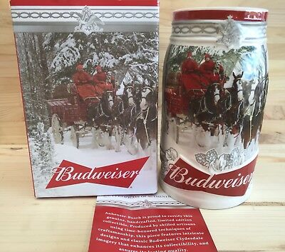 2017 Budweiser Holiday Stein Beer Mug  Annual series  IN STOCK