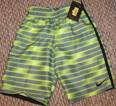 5015cb5a13 NEW! BOYS NIKE Blurred Volley Trunks/Boardies (Swim Shorts; Y/Gr ...
