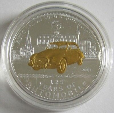 Palau 5 Dollars 2013 125 Years Automobile Auto Union 1000 S Coupe Silver