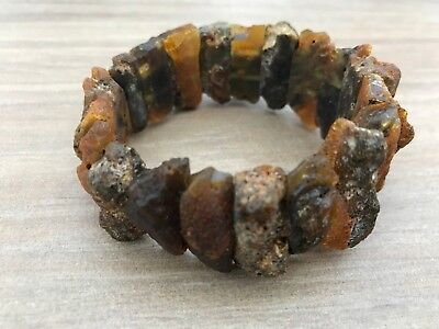 Raw unpolished Natural healing Baltic Amber bracelet 36 gr. #645 Bernstein hupo