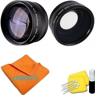 58MM .43X Wide Angle  2.2X Telephoto Lens for CANON REBEL XT XS T6 T6I T5 7D DHD