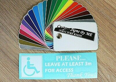 Please Leave At Least 3m Disabled Car Sticker Vinyl Decal Adhesive Bumper WHITE