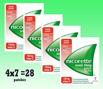 Nicorette 15mg  (  28 PATCHES   )  Step 2  Nicotine Replacement Stop Smoking Aid