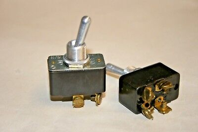 2 PACK Leviton® DPST - ON/OFF Toggle Switch - 15A@125VAC - 10A@250VAC (100-647)