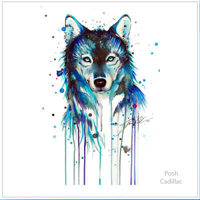 b60b525f6b2f0 Proud, Pure, Lonely Wolf Waterproof Temporary Tattoo Watercolor Dog Lykos  Lycos