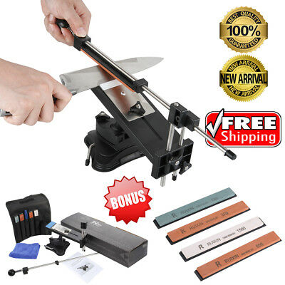 Küche Knife Messerschleifer Fixed-Winkel Sharpener Tool + 4 Schleifstein mit Bag