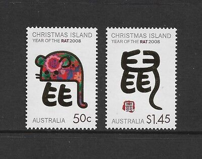 CHRISTMAS ISLAND 2008 Year of the Rat, mint set of 2, MNH MUH