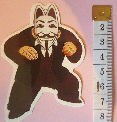 V FOR VENDETTA sticker decal laptop book wall guitar unused unstuck quality