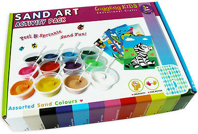 Christmas Sand Art Kit, Kids Craft - 20 Designs, Au Seller
