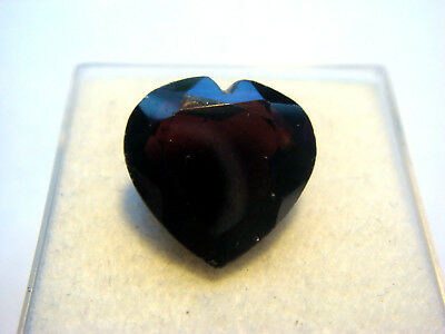 Garnet Gemstone Heart Cut 12 mm x 12 mm 8.5 carat faceted natural Gem