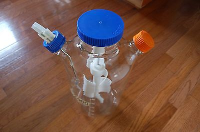 Bellco spinner u-carrier reactor  Glass culture 6 flask tray  6000 ml  liters 6L