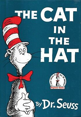 The Cat In The Hat Dr. Seuss Vintage Renewed 1985 Edition Hard Cover Book