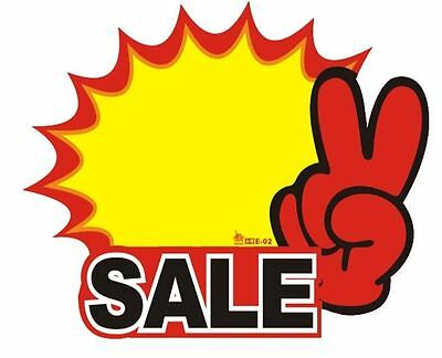 10x ( Sale ) Shop Retail Price Sale Sign Advertising Promotion Pop Yellow Card