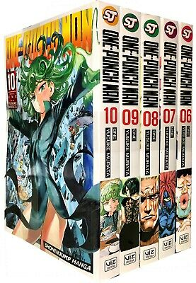 One-Punch Man Volume 6-10 Collection 5 Books Set Childrens Manga Book Paperback
