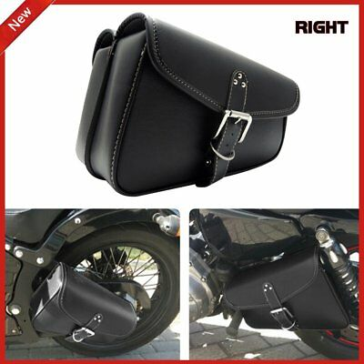 Black Motorcycle Rght Side SWING ARM BAG FOR HARLEY Softail Fatboy LS