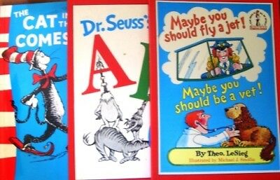 3 x Dr Seuss - ABC + Cat In The Hat Comes Back + Maybe You Should
