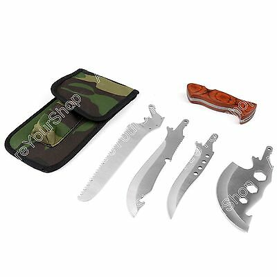 4 in 1 Survival Knife Shovel Axe Saw Outdoor Hiking Camping Emergency Multi-Tool