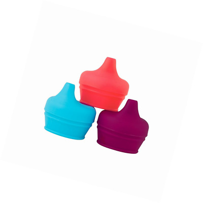 Boon Snug Silicone Sippy Lids Pink/Purple/Blue