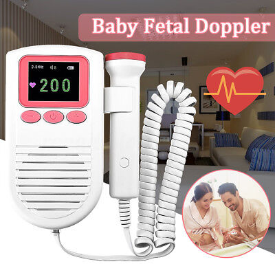 LCD Display Baby Fetal Doppler Heart Rate Monitor Ultrasound Heartbeat Detector