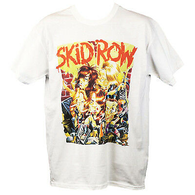 SKID ROW T SHIRT Heavy Metal Motley Crue Poison Graphic Band Tee S M L XL XXL