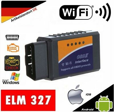 WiFi ELM327 OBD 2 OBDII Auto Diagnose Interface Scanner Android iOS iPhone iPad