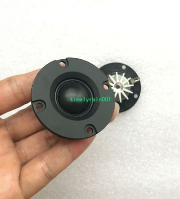 2pcs 4Ohm 4Ω 5~15W Dome Silk Film tweeter Speaker hifi treble With heatsink
