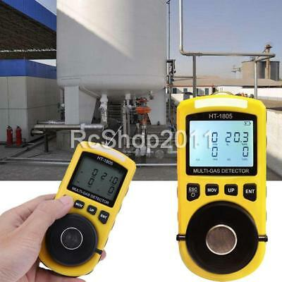 AU HT-1805 4 in 1 Gas Analyzer Detector Portable O2 CO H2S Harmful Gas Tester
