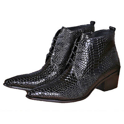 Fulinken Size 5-12 Fashion Comfort Leather Pointed Ankle Boots Mens Dress Shoes