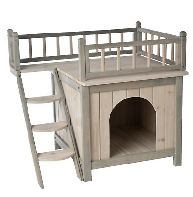 Wooden Cat Play Den Home Indoor Pet Sleeping Kitten Kennel Shelter Bed House New