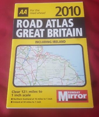 AA map 2010 road atlas Great Britain A5