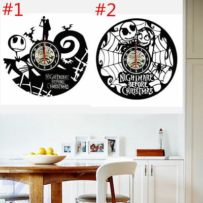 Nightmare Before Christmas Vinyl Record Clock home decor gift