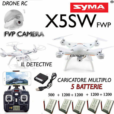 Drone SYMA X5SW FPV REALTIME HEADLESS COMBO REAL TIME WiFi BATTERIE