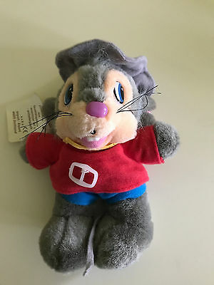 An American Tail Fievel Mousekewitz Plush Cuddly Toy with Tags Ultra Rare