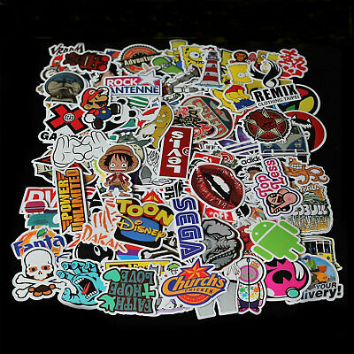 500 Random Skateboard Vinyl Sticker Skate Graffiti Laptop Luggage Car Bomb Decal