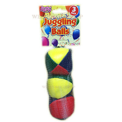Set OF 3 Circus-Clown-Coloured-Juggling-Balls-Learn-to-Juggle-Toy-Game