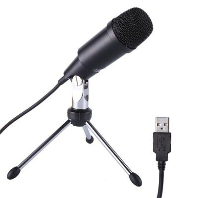 USB Condenser Microphone Desktop Studio Tripod Stand Audio Broadcasting Sound MS