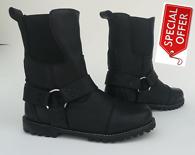 New Leather Rk10  Midi Touring Motorbike Motorcycle Mens Boots