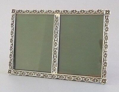 Continental solid silver (800 grade) 5.7'' x 3.9'' double photo frame