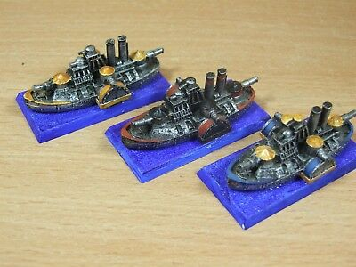 3 Classic Metal Warhammer Man O War Dwarf Ironclads Painted (1429)